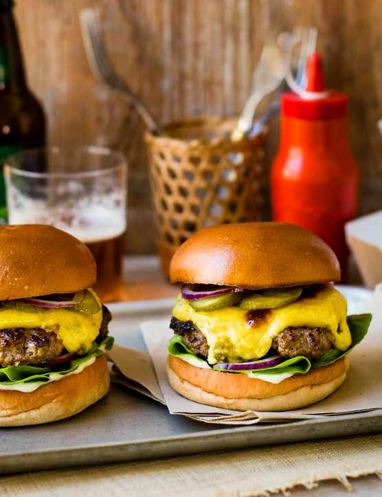 Diner Style Burgers With Jalapeño Rarebit