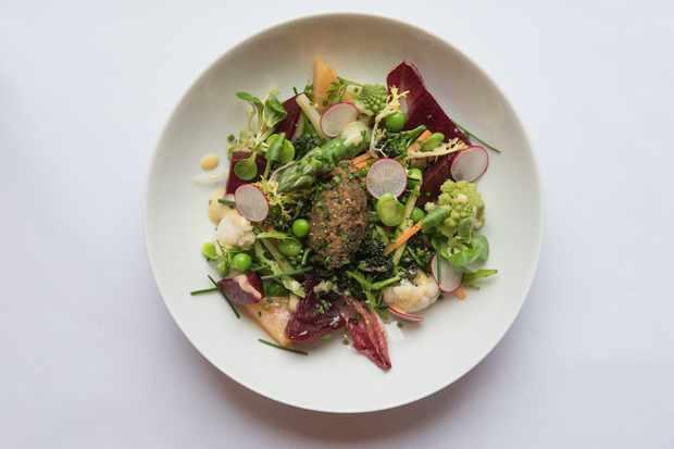 Le Roi Fou, Edinburgh: Spring garden vegetables salad