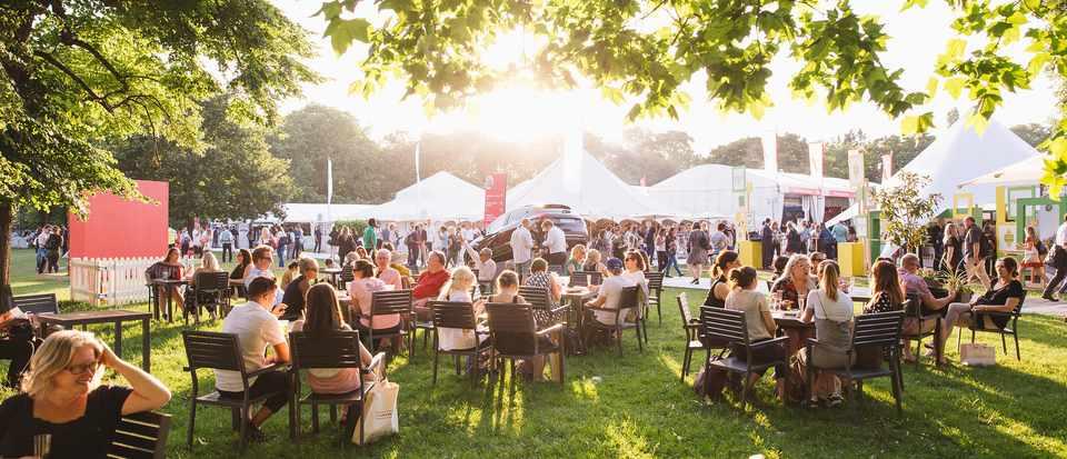 Crowds at Taste of Summer festival, London