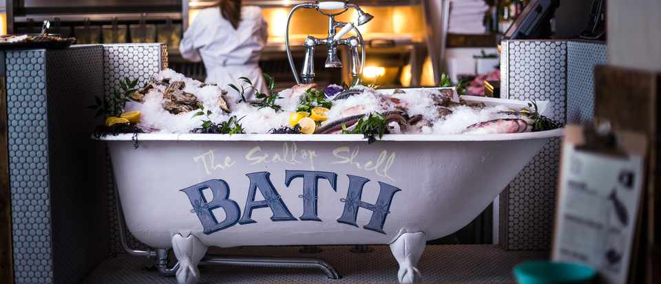 The Scallop Shell Bath - Catch of the day bath