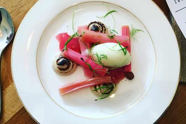acorn restaurant- rhubarb dessert