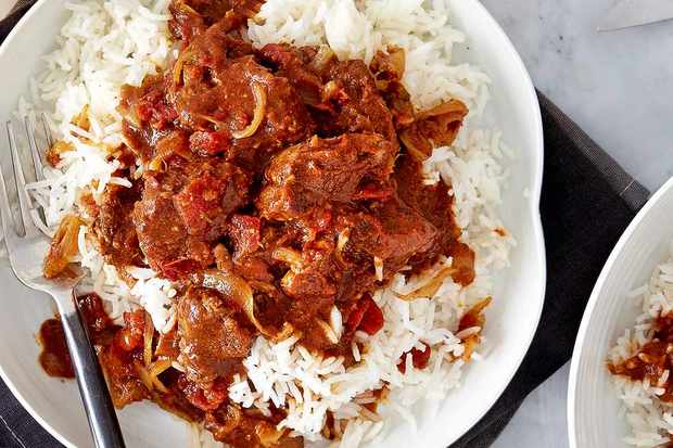 Caribbean Style Lamb Curry