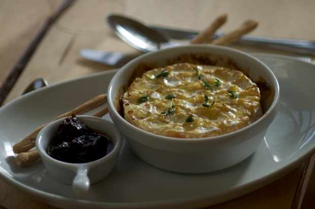 Baked Camembert with Whisky Fermented Prunes