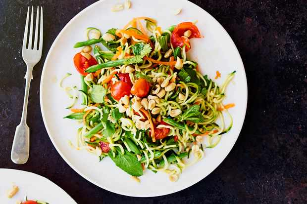 healthy vegetarian recipes - Courgetti Salad Recipe | Vegan Asian Salad