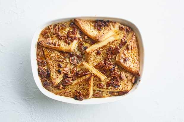 Crumpet Bread and Butter Pudding