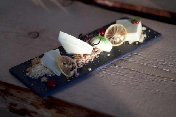 Cheesecake with Posset and Lemon Crunch