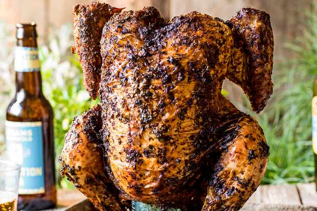 Beer Can Chicken Made With Cider