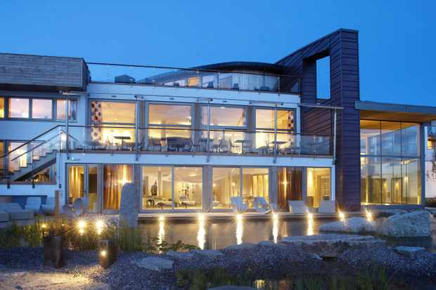 The Scarlet, North Cornwall -Exterior night lights