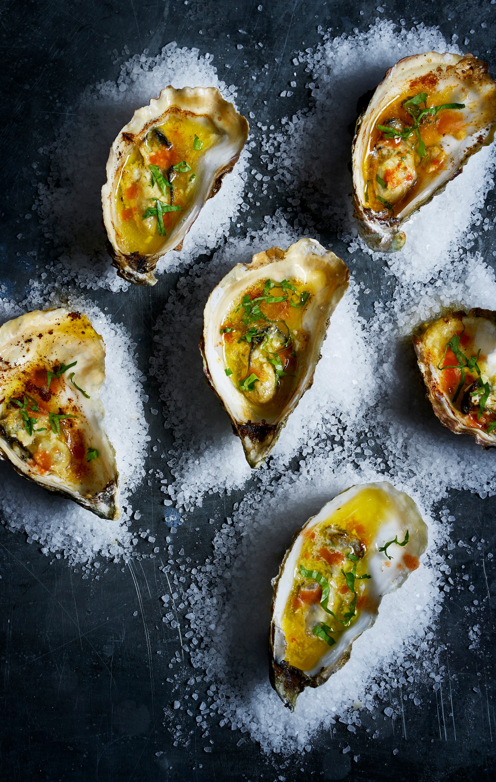 Grilled Oysters With Garlic Butter