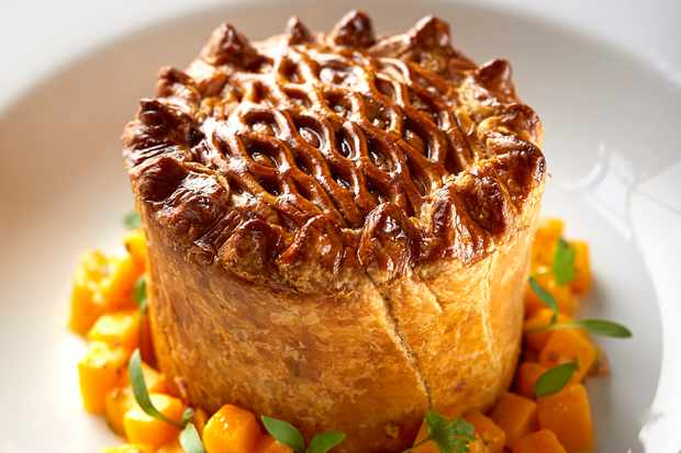 Curried mutton pie