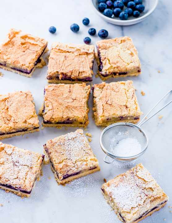 Lemon and Blueberry Tray Bake Recipe