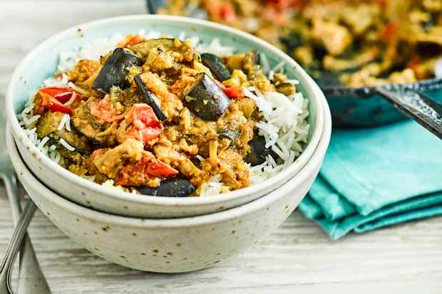 Bhaji Recipe with Aubergine