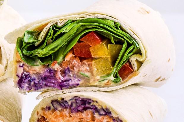 Rainbow veg wrap