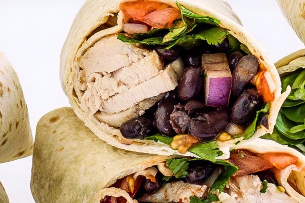 Tex-Mex chicken wrap