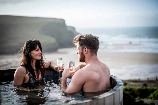 The Scarlet, North Cornwall - couple hot tub