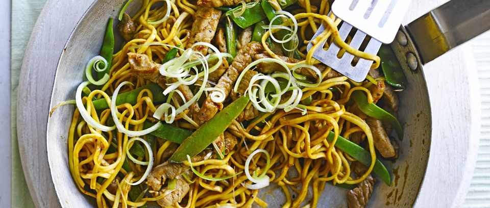 Pork and mangetout stir fry recipe