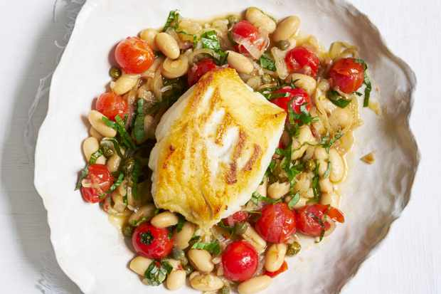 Cod with Tomato Bean Stew