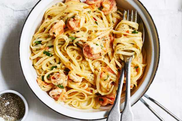 Linguine with Prawn Butter Sauce