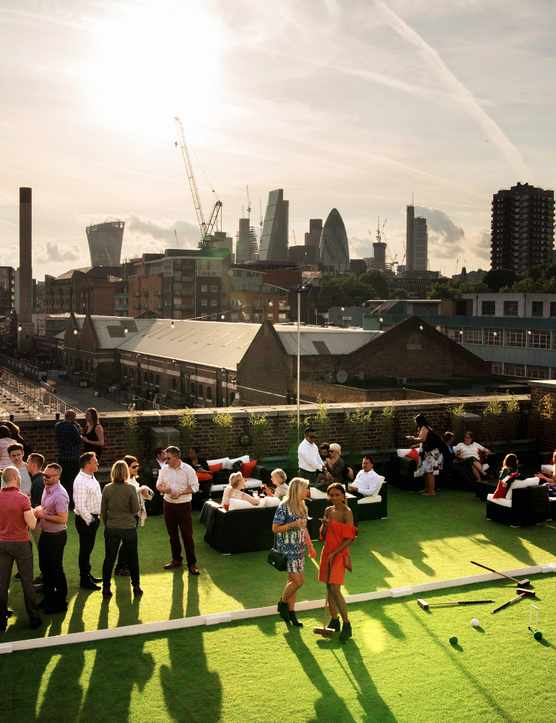 Skylight summer rooftop at Tobacco Dock