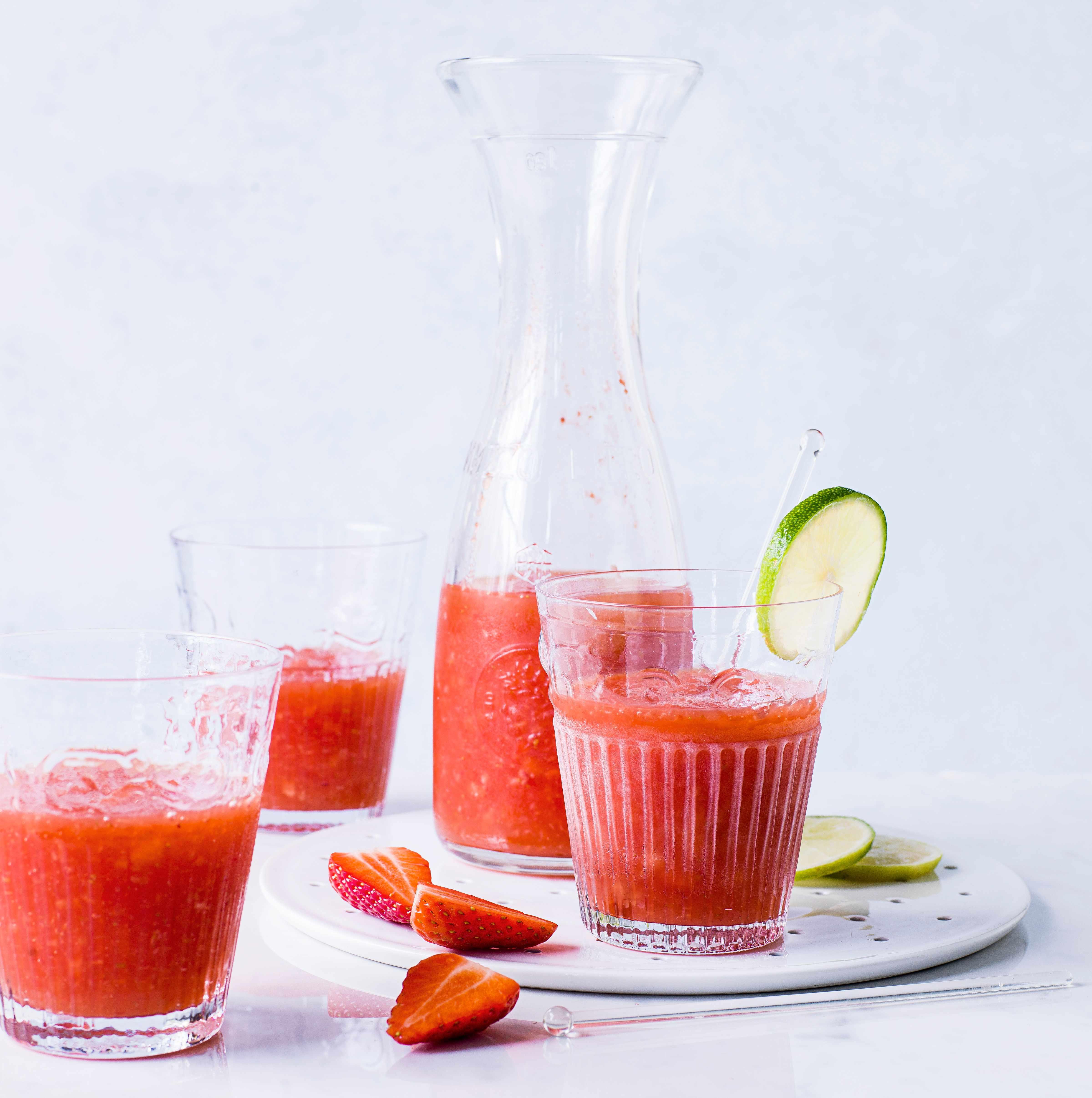 Strawberry margarita slushies