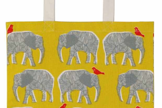 Elephant Cotton Tote Bag