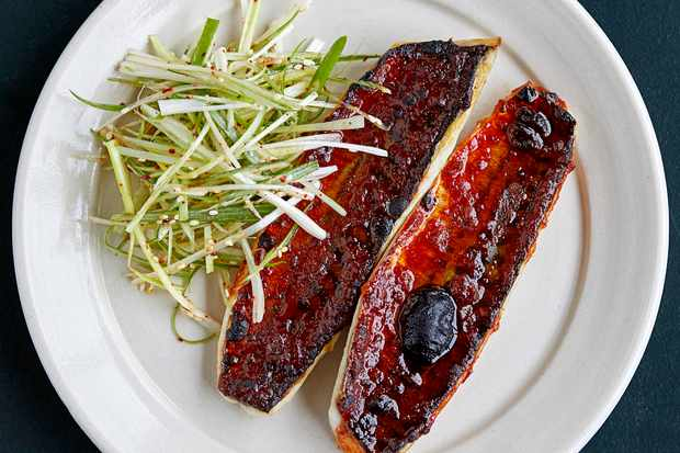 Grilled mackerel with Korean chilli