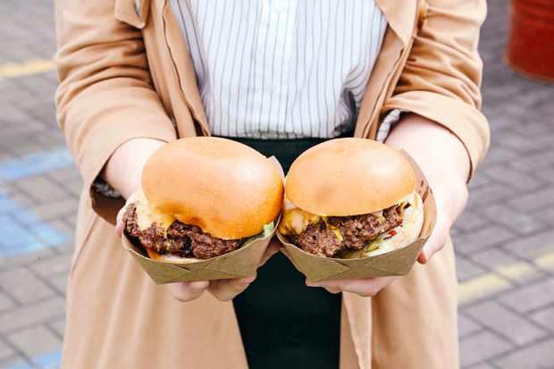 Boatyard Food box burger, Dublin weekender