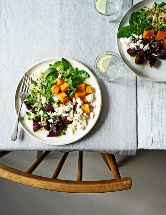 Beetroot and Feta Salad with Squash Recipe