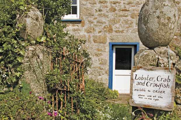 Isles of Scilly, Seafood for sale on St Agnes
