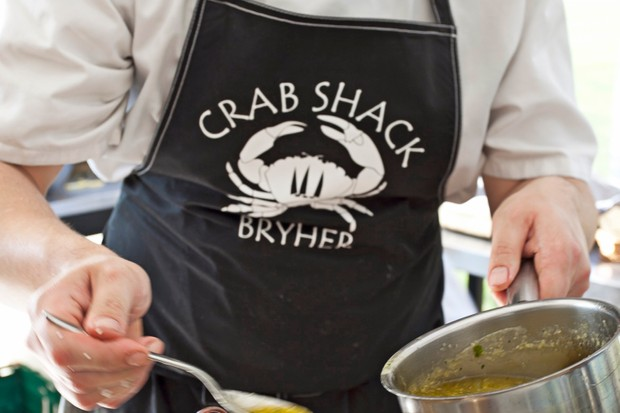 Isles of Scilly, Chef at work at Crab Shack on Bryher