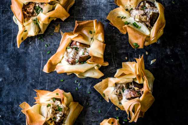 Goat's Cheese Filo Parcels Recipe with Figs