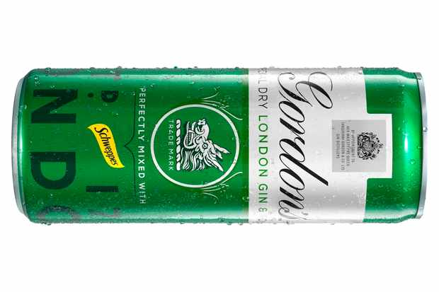 Gordon's gin and tonic in a can