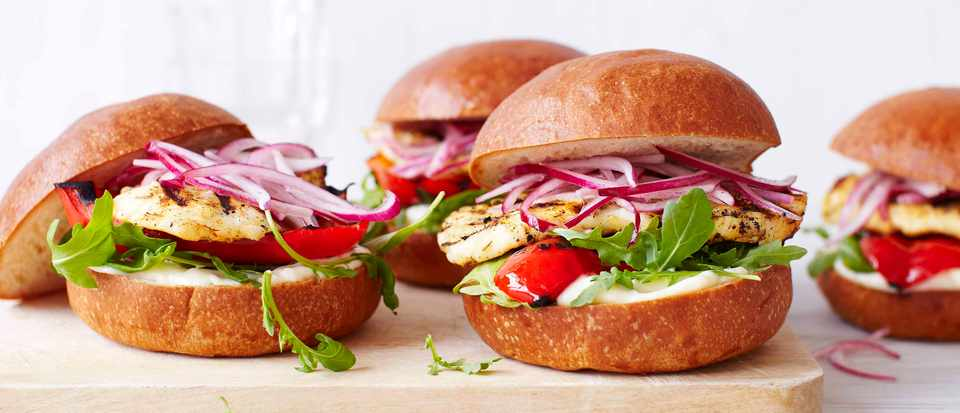 Veggie Burger Recipe For Jerk Halloumi Burgers