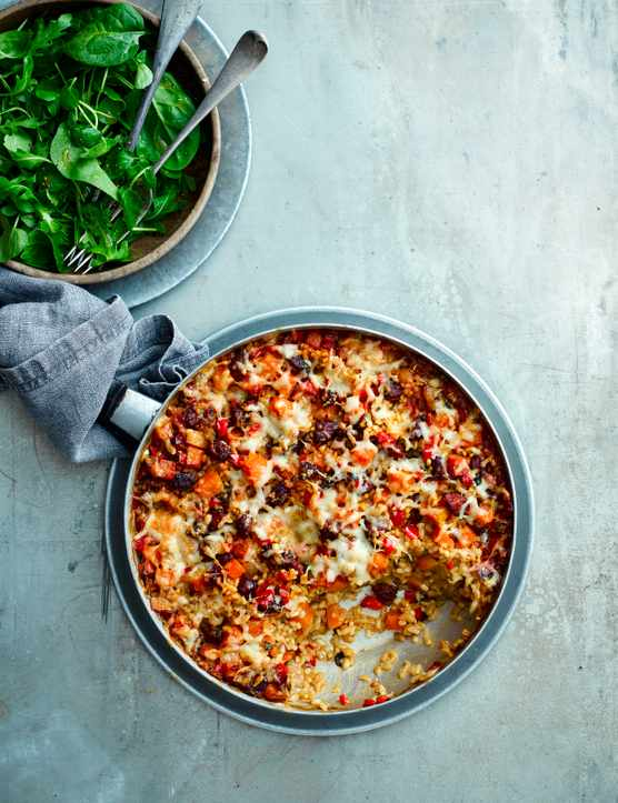 Baked Squash Recipe with Chorizo