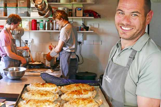 Isles of Scilly, Barney McLachlan at the island bakery on St Martin's