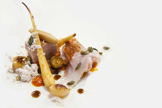 Pork, parsnip and pumpkin