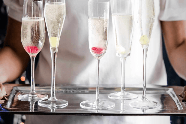 Pear-drop sweets Bellinis
