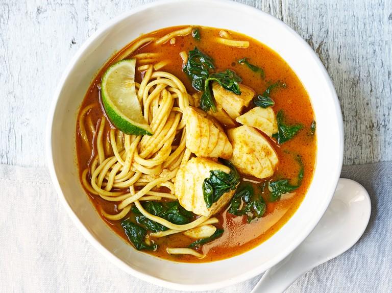 Thai Fish Noodle Soup Recipe Olivemagazine