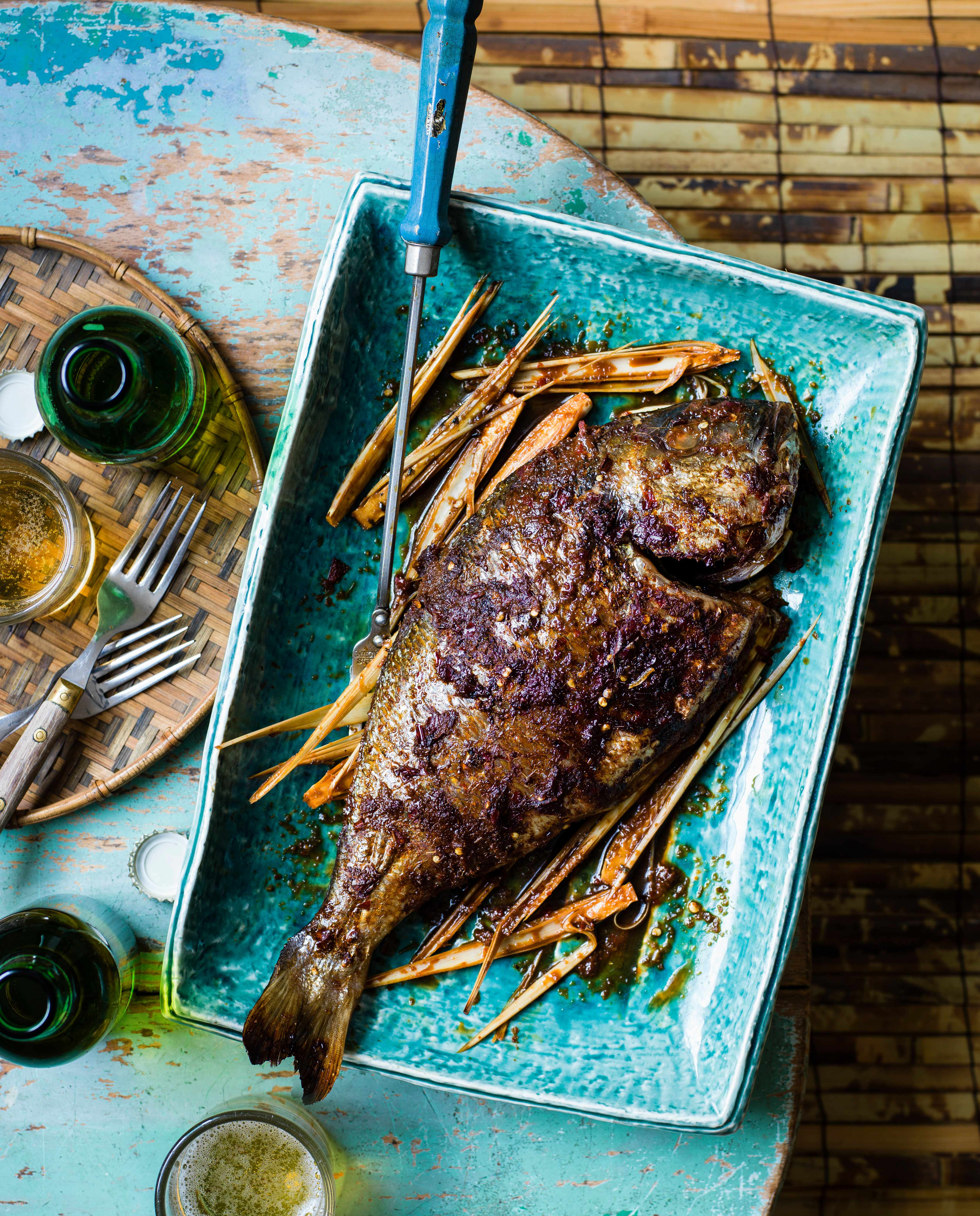 Whole chilli and lemongrass sea bream