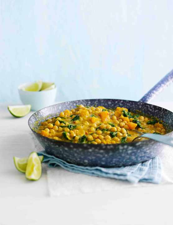 Chickpea and Squash Vegetarian Curry Recipe