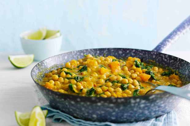 Chickpea and Squash Vegetarian Curry Recipe