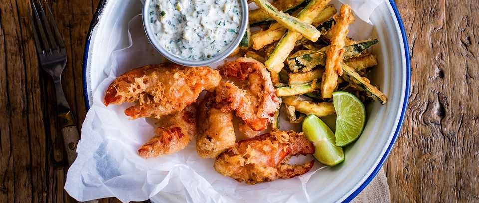 Lobster and fries