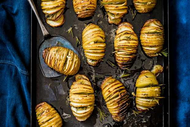 Hasselback Potatoes Recipe With Duck Fat