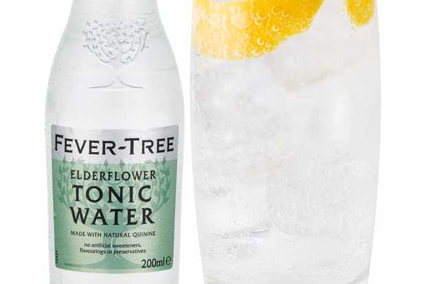 Fever Tree Elderflower Tonic Highball glass with Orange Curl