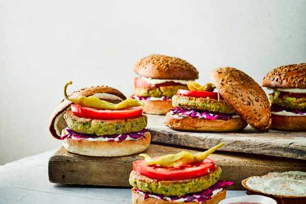 Spiced Falafel Burgers Recipe