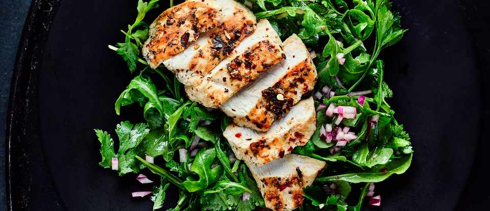 Grilled Chicken Recipe With Chimichurri Salad