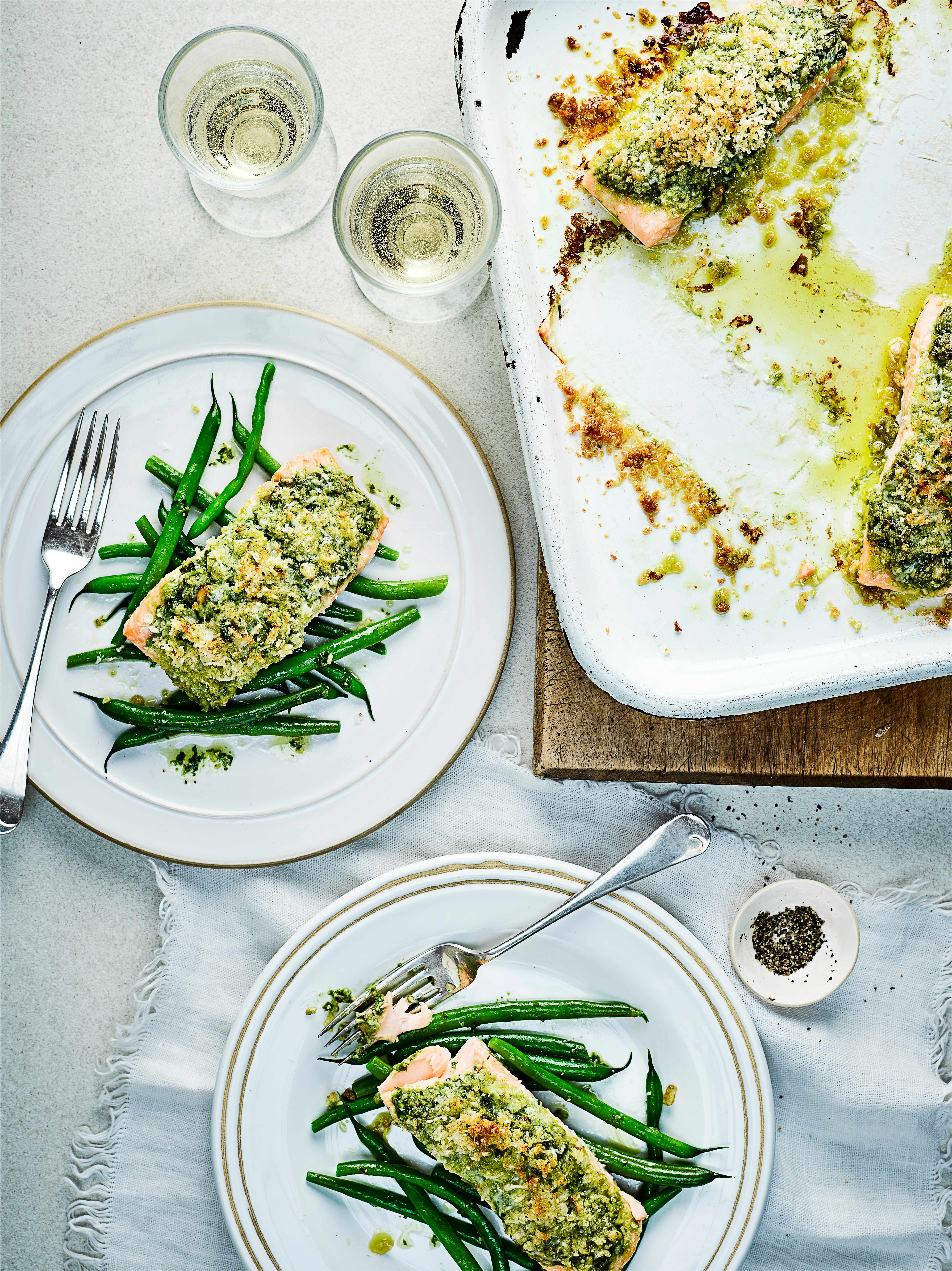 Salmon Recipe With Pesto Sauce Crust