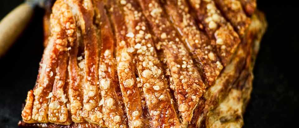 Crackling Roast Pork Belly Recipe Olivemagazine