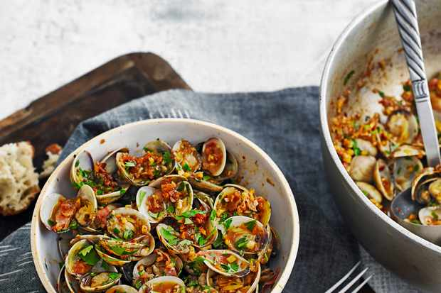 Clams With Quick XO Sauce Recipe