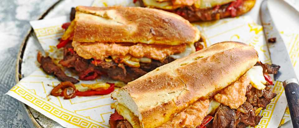 Easy Philly Cheese Steak Recipe with Russian Dressing